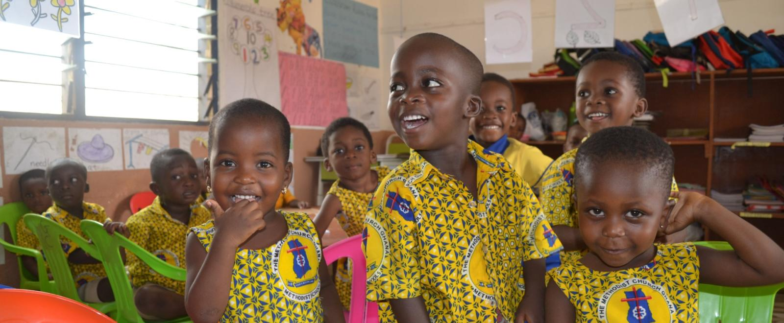 Children in a school in Ghana